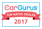 2017 Top Rated Dealer by Cargurus.